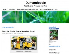Durhamfoodie blog post on Team Chirba